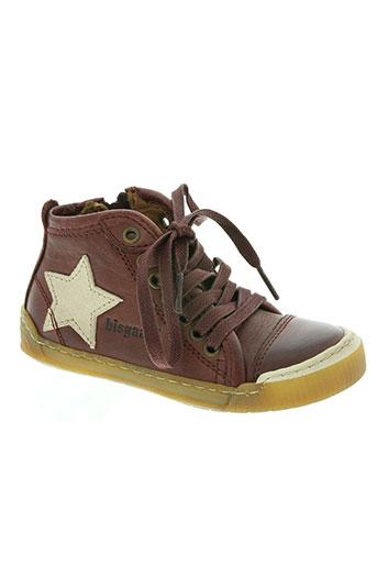 bisgaard chaussures enfant de couleur rouge