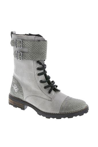ikks chaussures fille de couleur gris