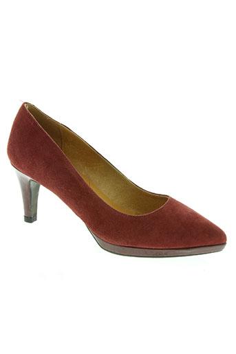 estefania marco chaussures femme de couleur rouge