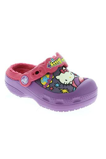 crocs chaussures fille de couleur violet