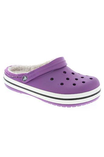 crocs chaussures femme de couleur violet
