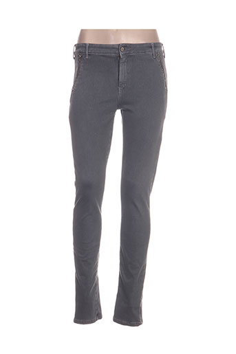 desgaste jeans femme de couleur gris