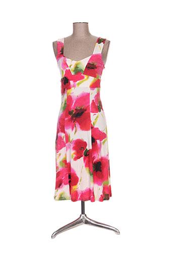 Robe mi-longue rose GLORIA VON PETAR pour femme