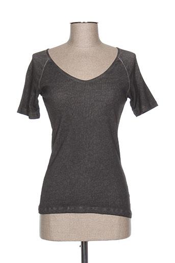 huit six sept t-shirts femme de couleur gris