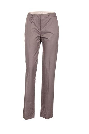 zapa pantalons femme de couleur marron
