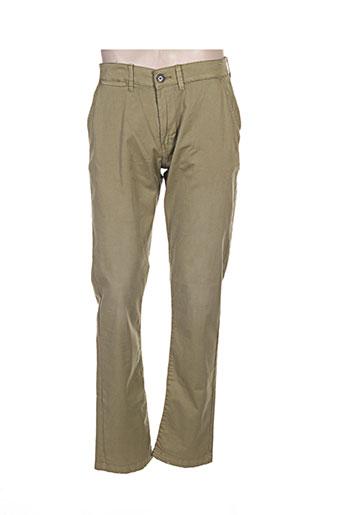 pepe jeans pantalons homme de couleur vert