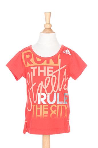adidas t-shirts fille de couleur rouge
