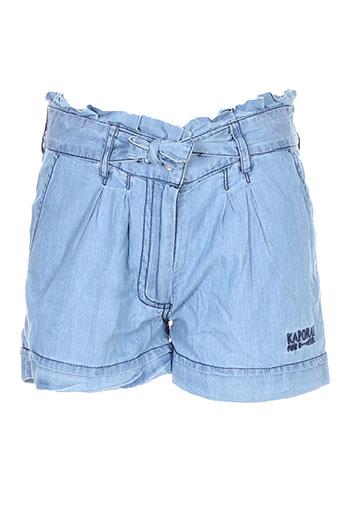 kaporal shorts / bermudas fille de couleur bleu