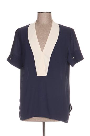 jane wood chemises femme de couleur bleu