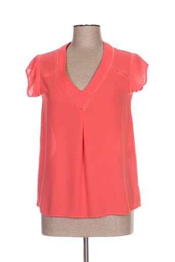rue des abbesses chemises femme de couleur rose
