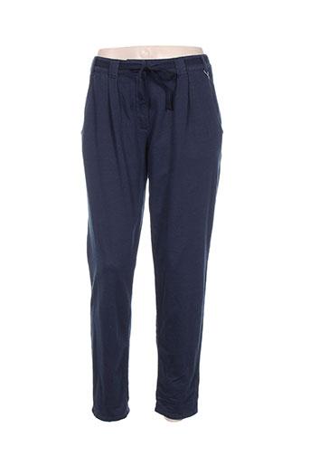 betty and co pantalons femme de couleur bleu
