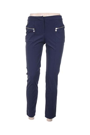 indies pantalons femme de couleur bleu