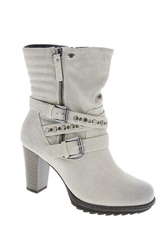 tom tailor chaussures femme de couleur gris