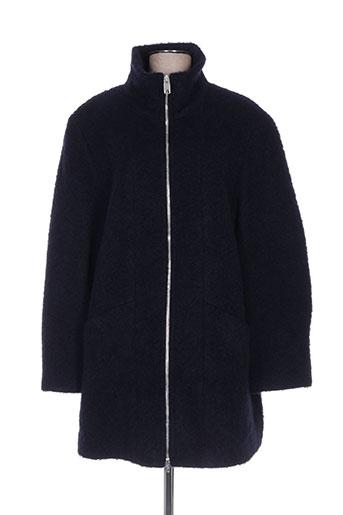 lebek manteaux femme de couleur bleu