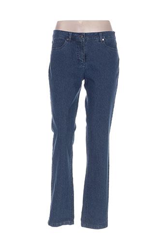 Jeans coupe droite bleu BX pour femme