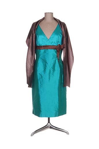 Robe mi-longue bleu ALFREDO VAEZ pour femme