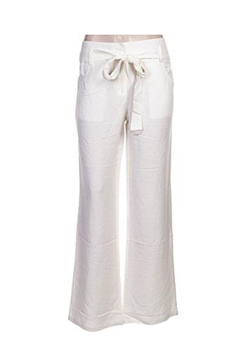 my collection pantalons femme de couleur blanc