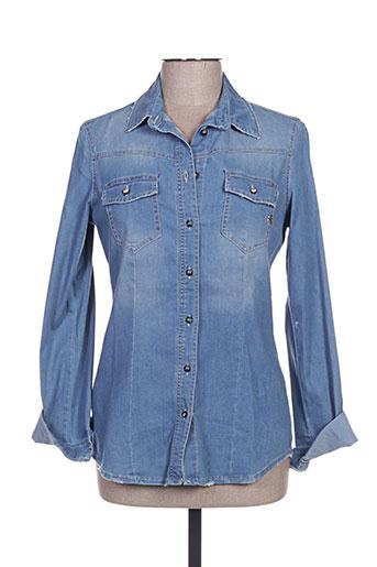 rinascimento chemises femme de couleur bleu