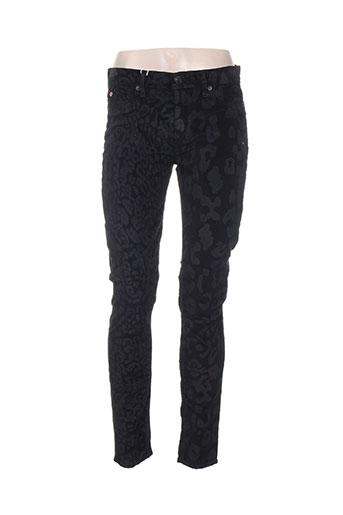hudson pantalons femme de couleur noir