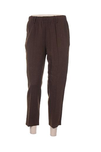 Pantalon casual marron FORTE-FORTE pour femme