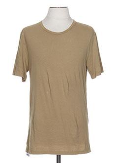 T-shirt manches courtes beige GOLDEN GOOSE DELUXE BRAND pour homme