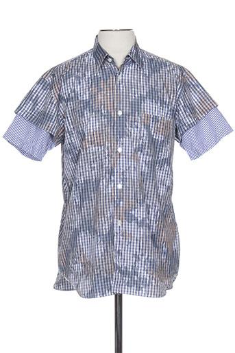 comme des garcons chemises homme de couleur bleu
