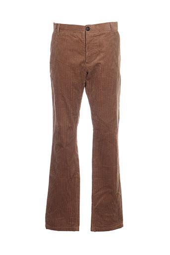 band of outsiders pantalons homme de couleur marron