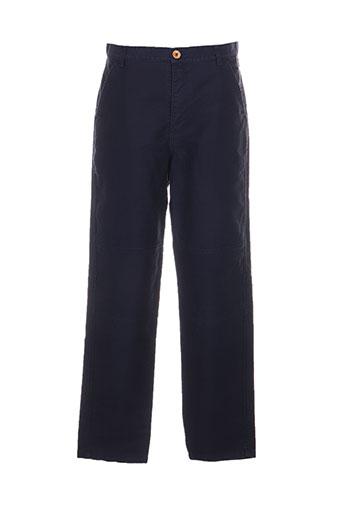comme des garcons pantalons homme de couleur bleu