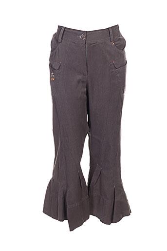 fille des sables pantalons femme de couleur gris