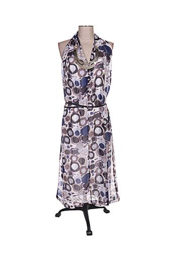 aby gardner robes femme de couleur bleu