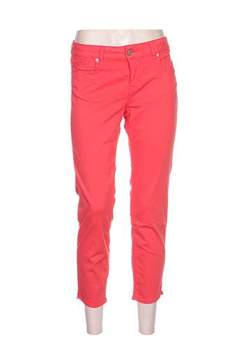 five pantalons femme de couleur rouge