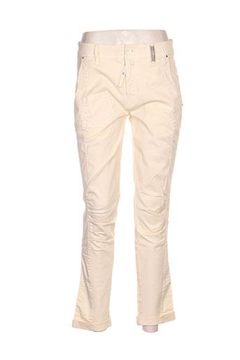 Pantalon casual beige ICHI pour femme
