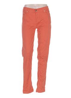 Jeans coupe droite orange LES P'TITES BOMBES pour femme