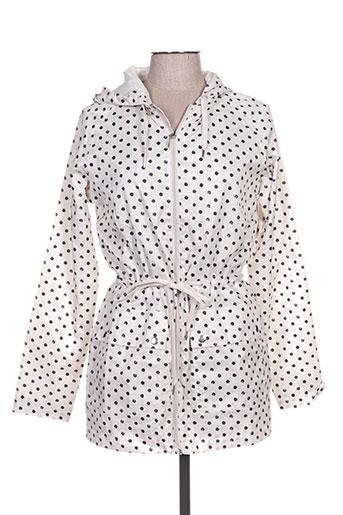 imitz manteaux femme de couleur blanc