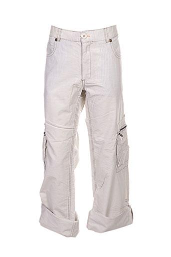 chevignon pantalons garçon de couleur beige