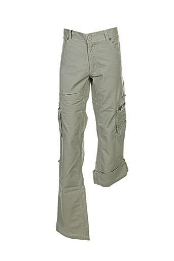 chevignon pantalons garçon de couleur vert