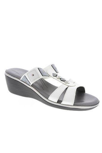 salmone chaussures femme de couleur blanc
