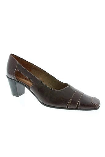 gf confort chaussures femme de couleur marron