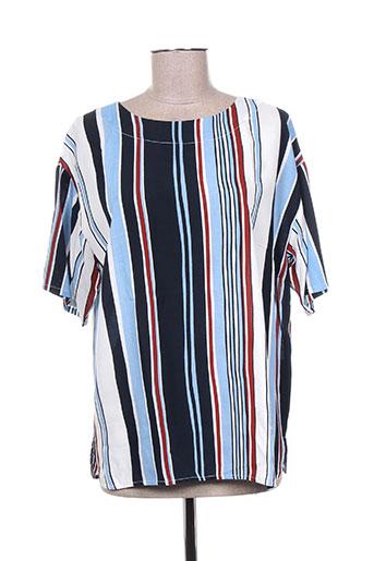 brandtex chemises femme de couleur bleu