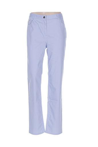 felino pantalons femme de couleur bleu
