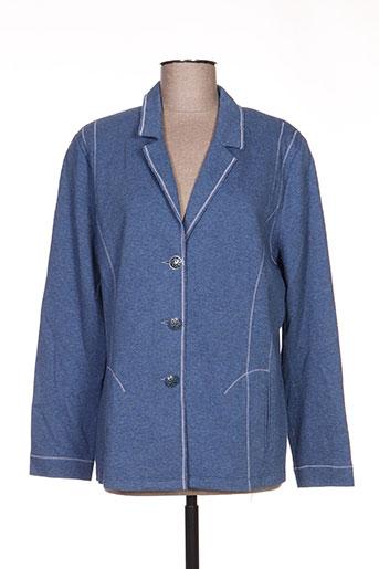 Veste casual bleu LUCIA pour femme