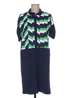 Robe mi-longue bleu CUBIC pour femme