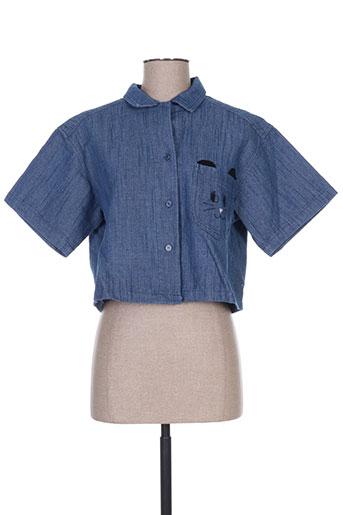 pepa loves chemises femme de couleur bleu