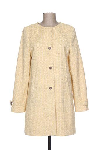 trench EFFI_CHAR_1 coat manteaux femme de couleur jaune