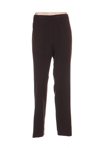 guy dubouis pantalons femme de couleur marron
