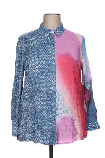 chalou chemises femme de couleur bleu