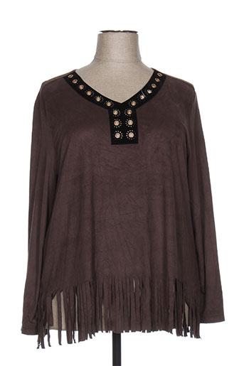 vetistyle chemises femme de couleur marron