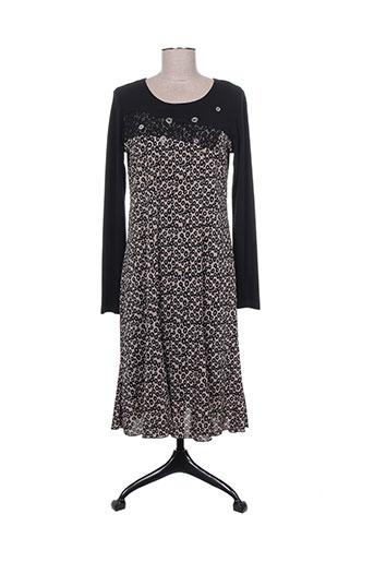 telmail robes femme de couleur noir