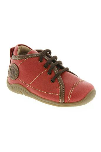 garvalin chaussures garçon de couleur rouge
