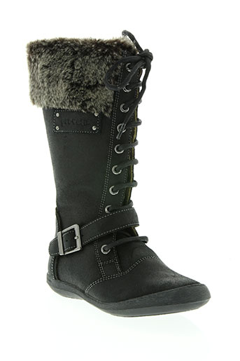 garvalin chaussures fille de couleur noir
